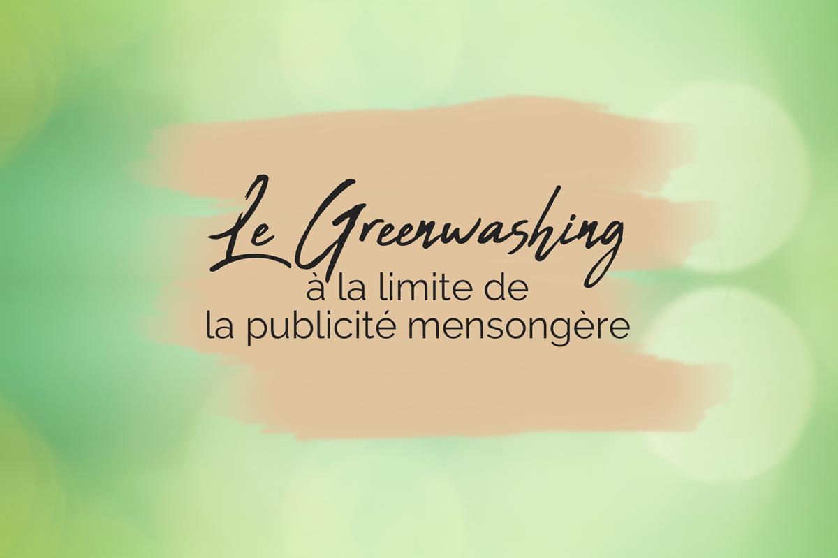 écologie greenwashing choix