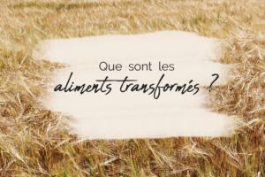 Blog J'ai le Choix - écologie - Que sont les aliments transformés ?